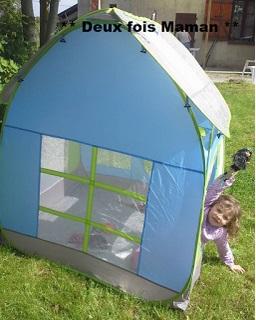 une cabane en toile