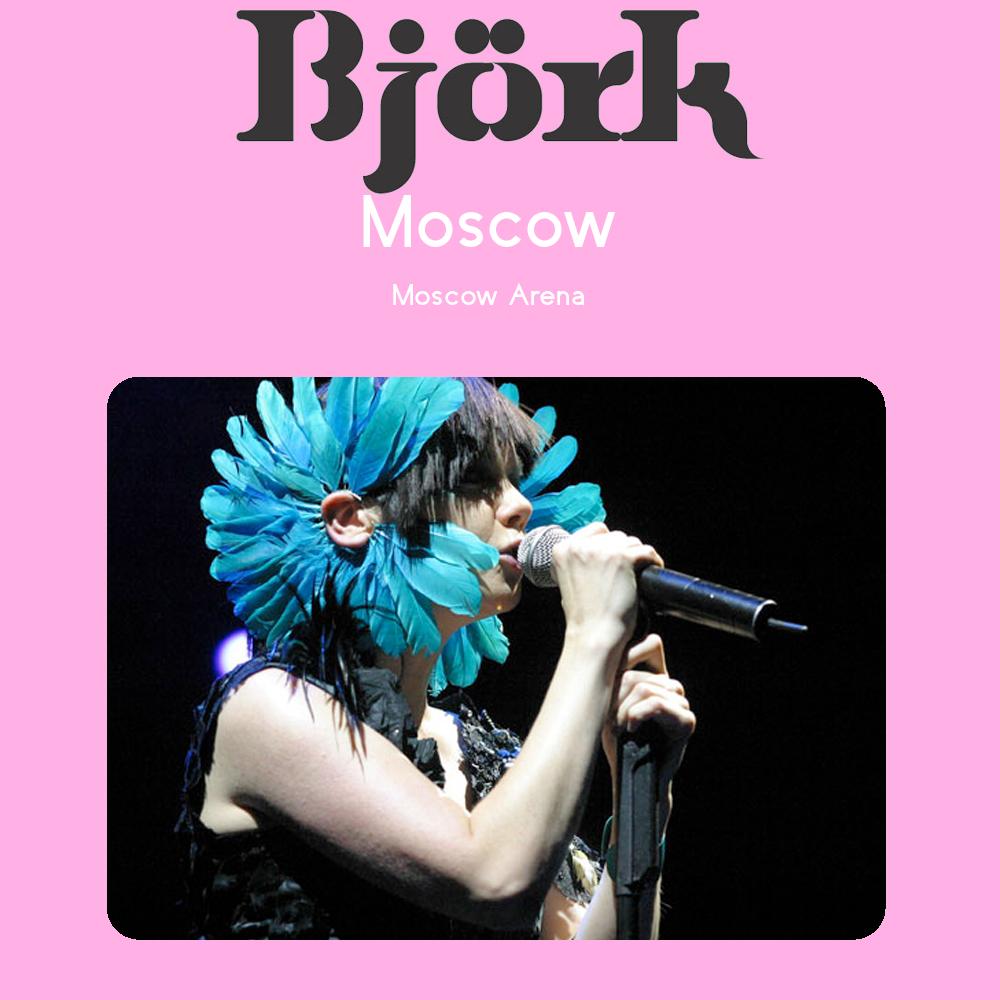 björk guðmundsdóttir: Björk - Live @ Russia, Moscow Arena ...