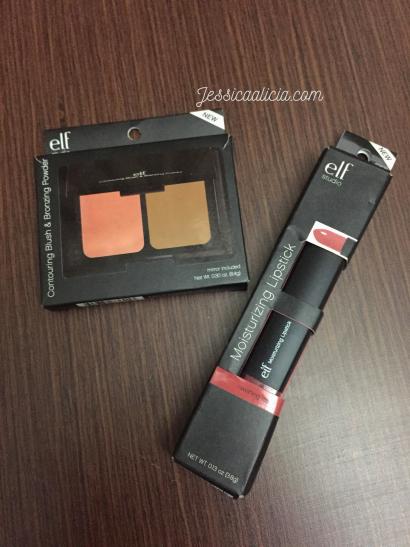 Review : E.l.f. Contouring Blush & Bronzing Powder dan Lipstick feat. Kleora.com by Jessica Alicia
