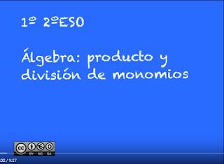 multiplicación y división monomios