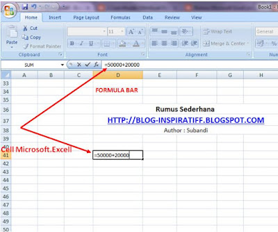 Rumus-rumus dasar pada Microsoft Excel part02