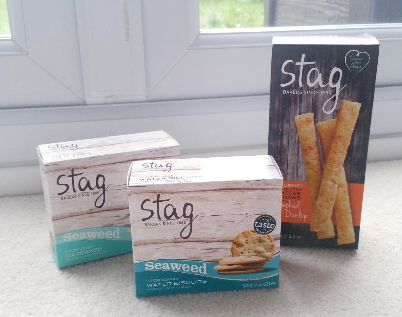 Stag Bakeries, great taste awarded, seaweed biscuits