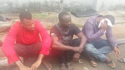 Dangerous Hustlers!!! See Yahoo Boys Caught by Police Fighting Over How to Share Dollars They Scammed Online (Photos)