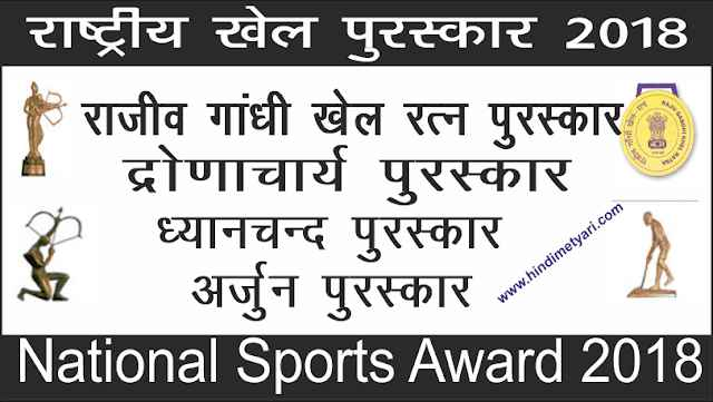 List of National Sports Award 2018