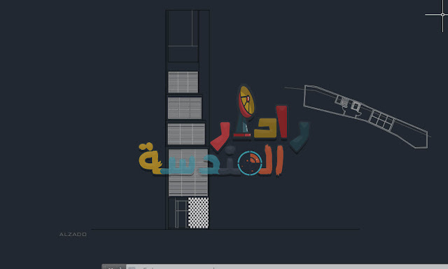 تحميل ملف أوتوكاد لــ مشروع فندق كوربوزييه dwg