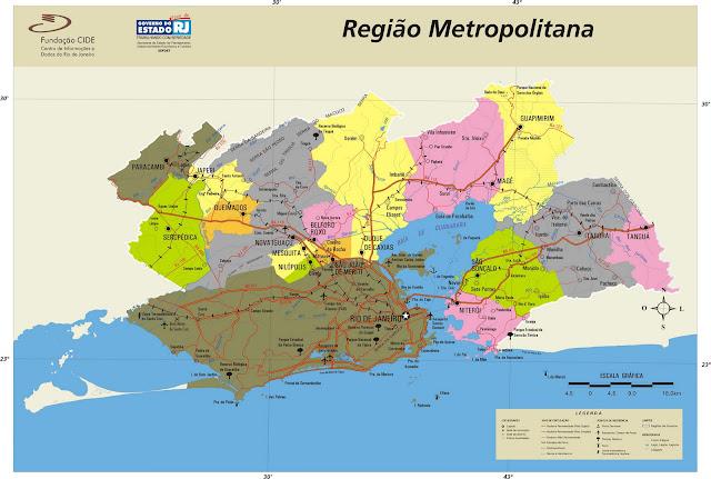 Mapa Região Metropolitana Rio de Janeiro