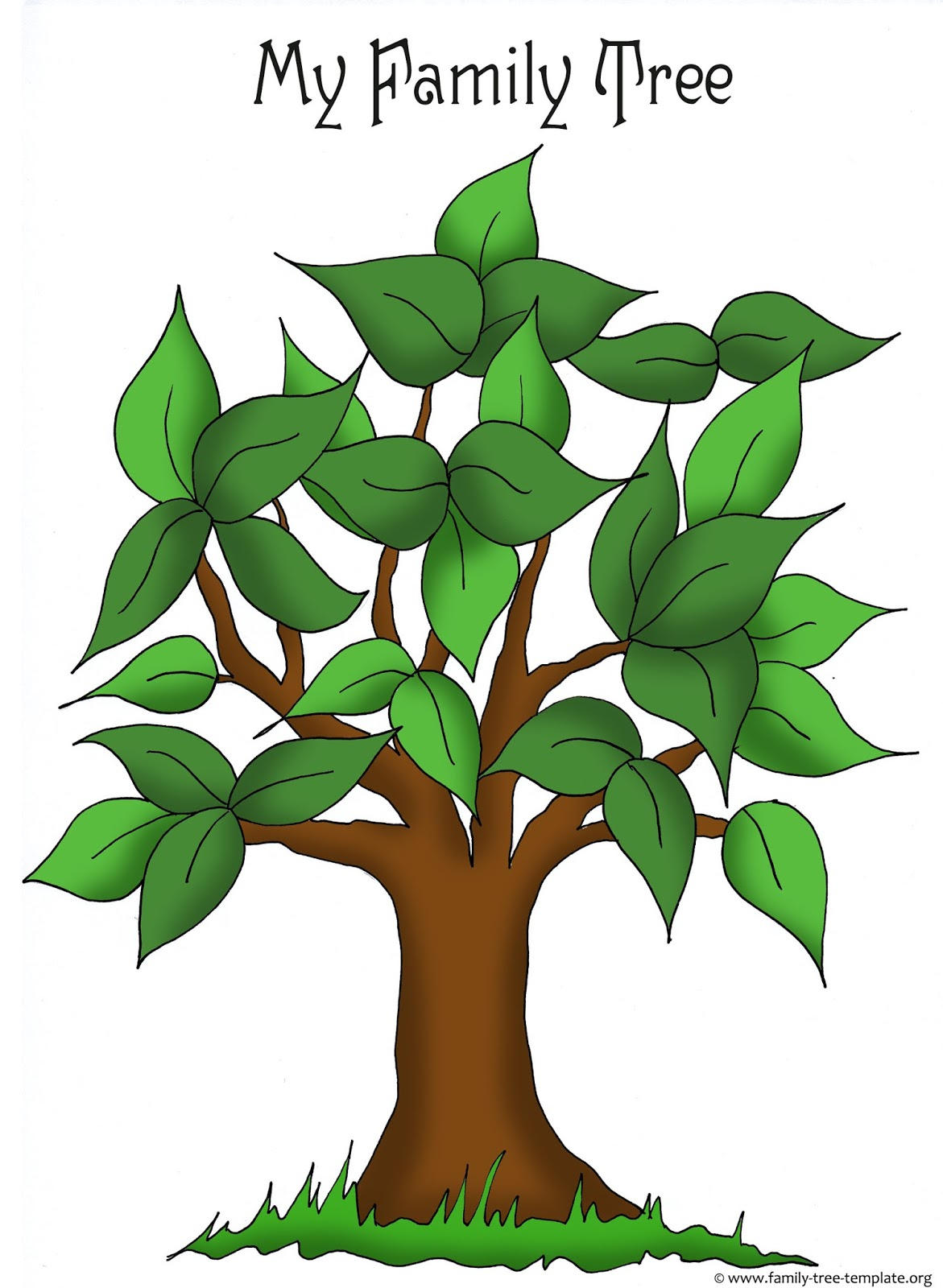Adaptable image intended for printable tree template