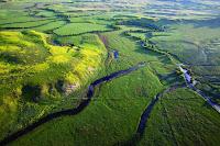 Montana's Otter Creek valley. (Credit: Christopher Boyer, kestrelaerial.com) Click to Enlarge.