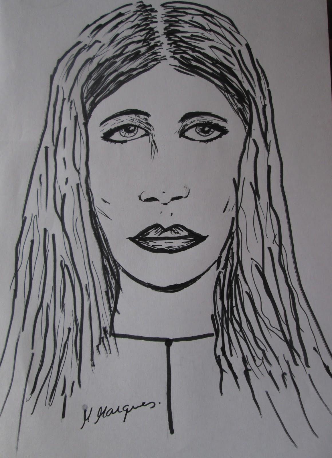 Mmarques Desenho Rosto Mulher Frente