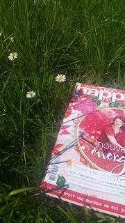 Lire, installée au milieu des brins d'herbe