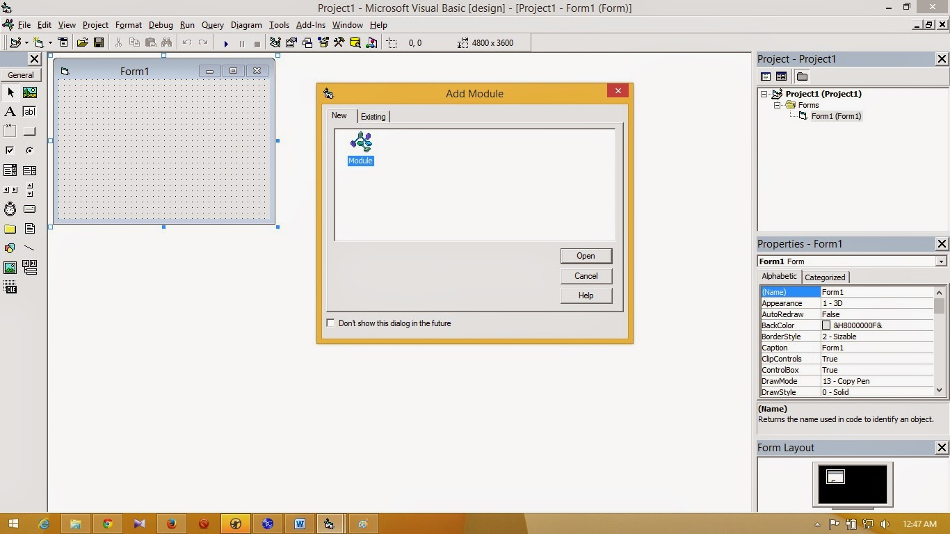 Techno com: Create a module in VB net Visual Basic Net 6 0 connect