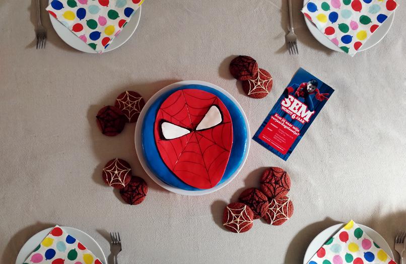 Verjaardagsfeestje in Spiderman stijl