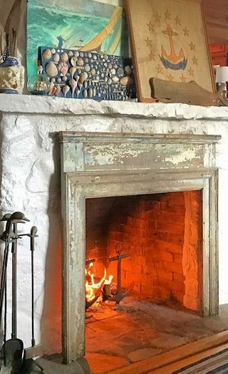 Nautical Cottage Fireplace