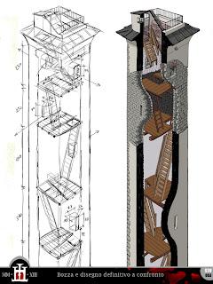 Domus project progetto di montagne e torri medievali for Disegno interno casa