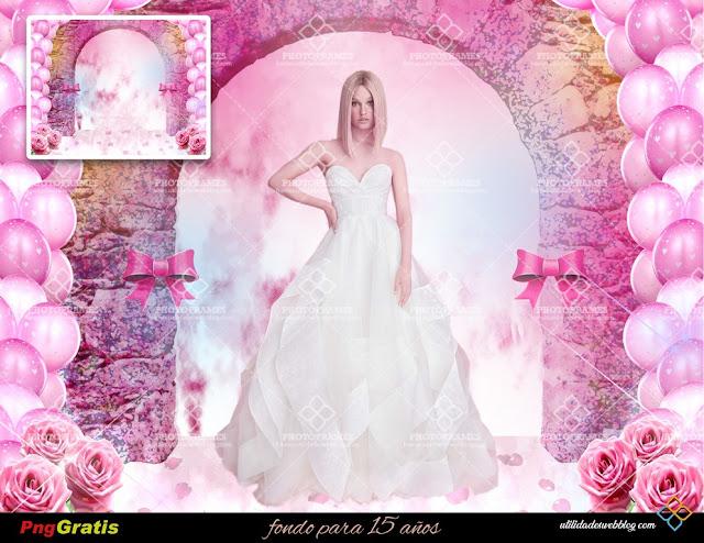 15th Birthday Quinceanera Premade Background