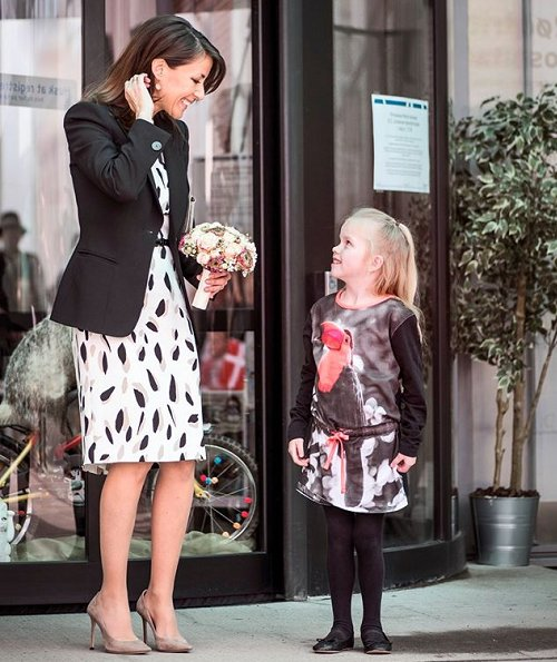 Princess Marie wore Hugo Boss Dikita1 Patterned dress