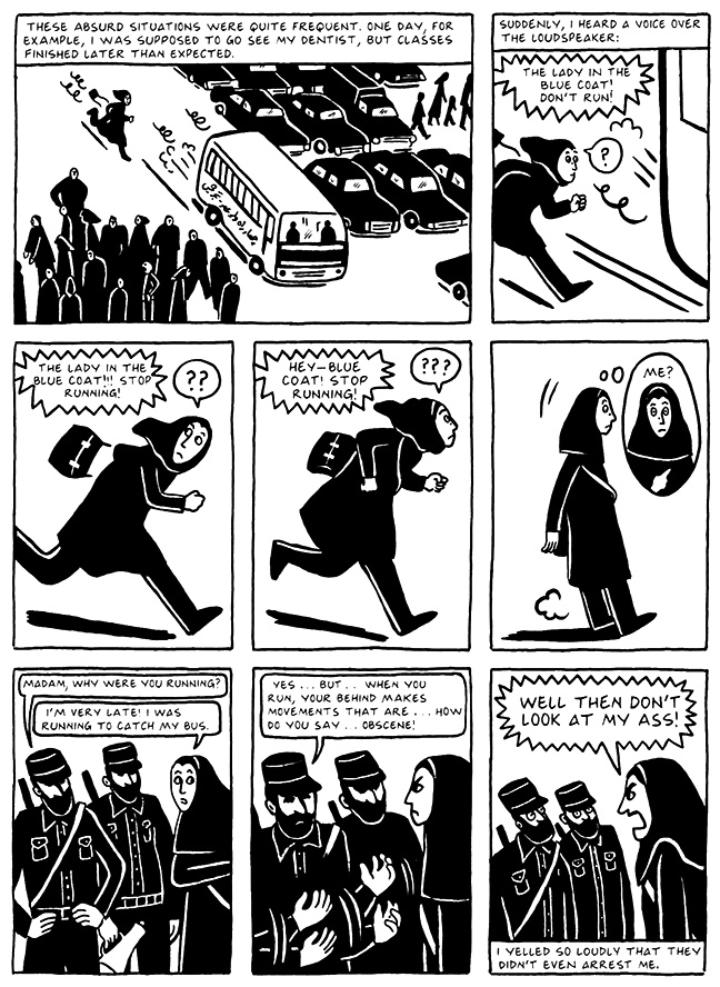 Read Chapter 16 - The Socks, page 147, from Marjane Satrapi's Persepolis 2 - The Story of a Return