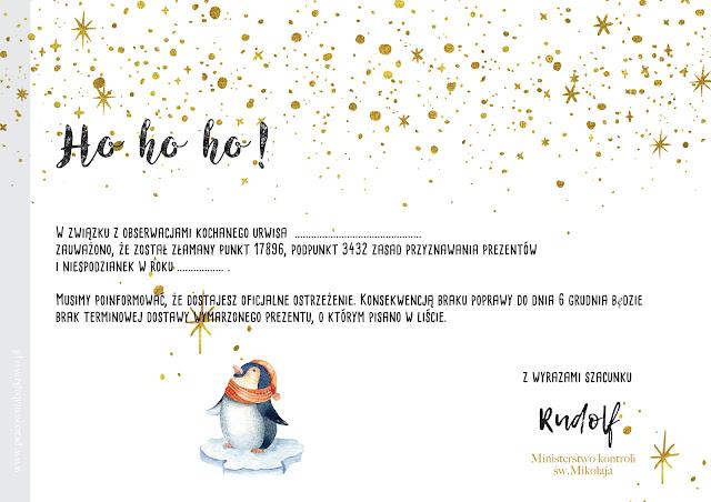 List od św. Mikołaja dla niegrzecznych dzieci