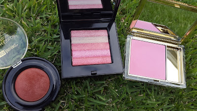 Black Radiance 'Toasted Almond', Bobbi Brown 'Lilac Rose' and Estee Lauder 'Pink Tease' www.modenmakeup.com