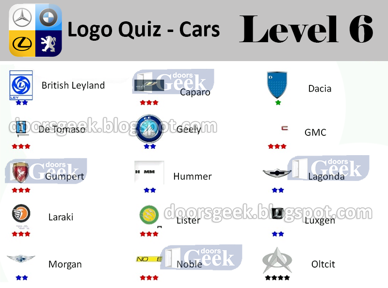 Cars [Level 6] Answers