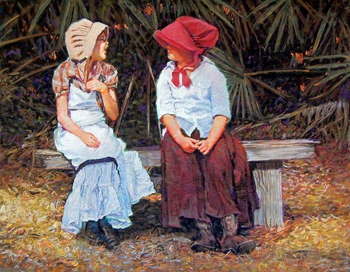 Современный американский художник. W.F. (Bill) James