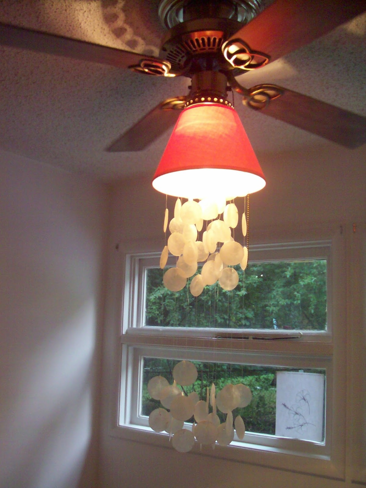Beautiful mini blessings dining room before and after - Dining room ceiling fan ...
