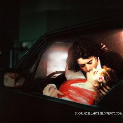 Il bacio-Carolus Duran. Fotomontaggi moderni di dipinti classici