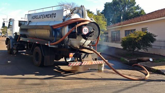 Roncador: Prefeitura realiza limpeza de bueiros através do hidrojato