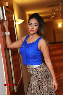 Telugu Actress Srilekha Reddy Latest HD Pos in Sleeveless Blue Top at Muse Art Gallery  0048.JPG