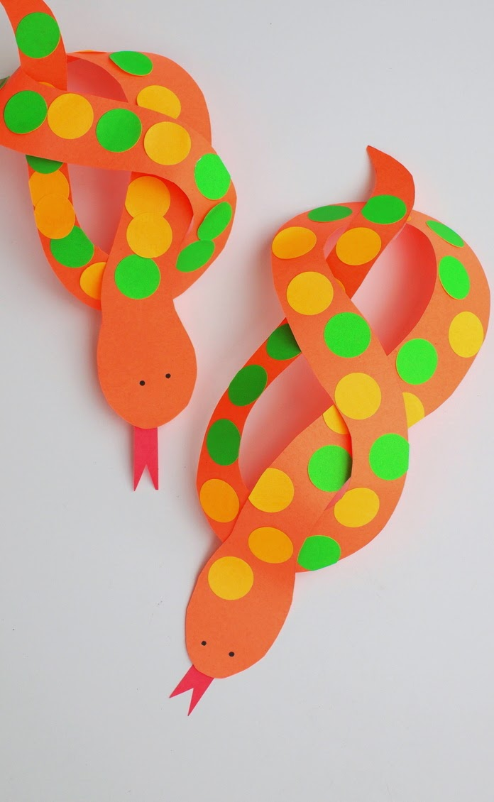 tape tongues onto your twisty snake sculptures