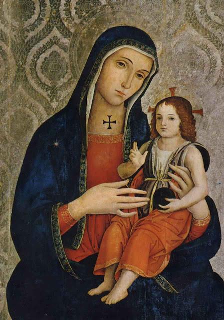 Madonna do Bessarione, Antoniazzo Romano, basílica dos Santos Apóstolos, Roma.