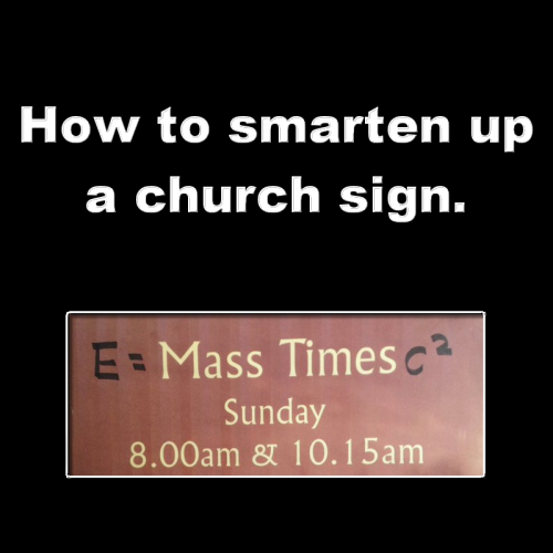 Smart church sign meme picture