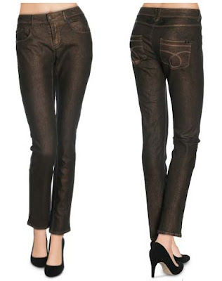 pantalones mujer cobrizos