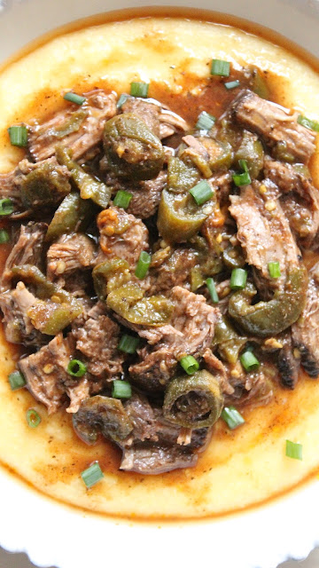 Jalapeno Shredded Beef and Polenta