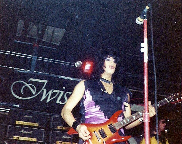 Twisted Sister on stage at The Fountain Casino November 1981