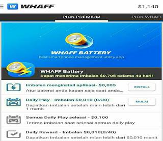 Cara Menggunakan Aplikasi WHAFF Reward
