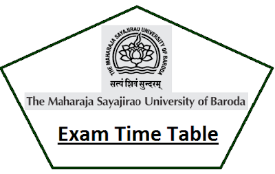 Baroda University Even Sem Time Table 2021