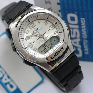 Jam tangan merk Casio original warna silver