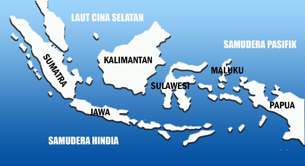 Peta topografi, yaitu peta yang menggambarkan permukaan bumi lengkap. Gambar Peta Indonesia Yang Mudah Di Gambar