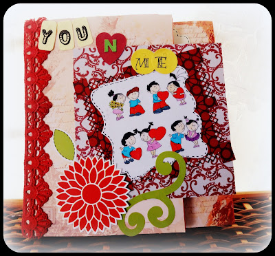 Romantic/love/anniversary handmade personalised albums/scrapbooks,