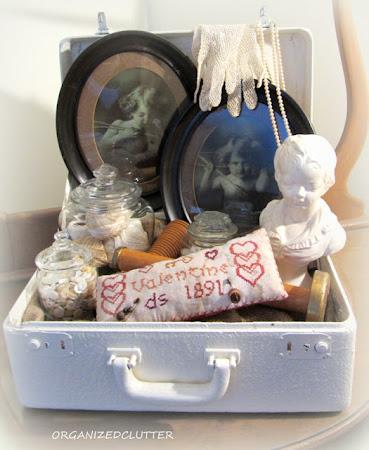 Cupid Valentine Suitcase Vignette