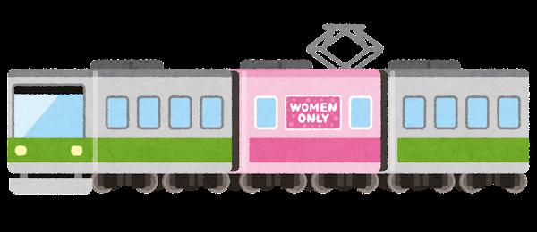 女性専用車両のイラスト