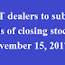 DVAT dealers to submit details of closing stock up to November 15, 2017