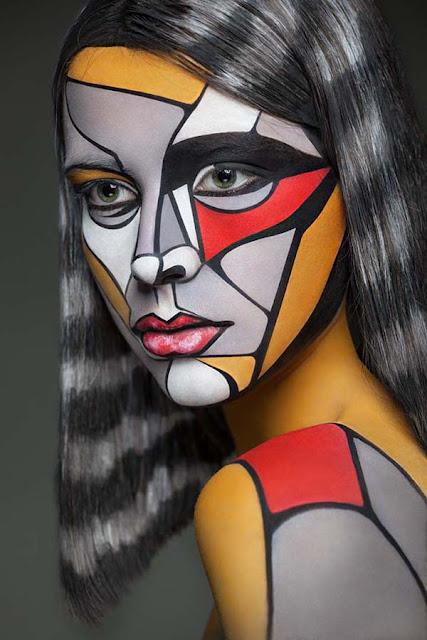 seni melukis tubuh atau body painting atau cat tubuh paling keren kreatif unik lucu dan menakjubkan-10