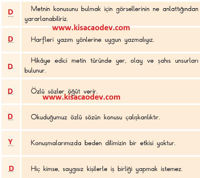 3. Sınıf SDR Dikey Yayınları Türkçe Sayfa   34.  35.  36. 37. Özlü Söz: Birlikten Kuvvet Doğar Metni Etkinlik Cevapları