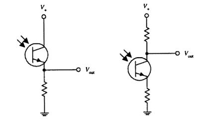 التوصيلات الاساسية للترانزستورات الضوئية
