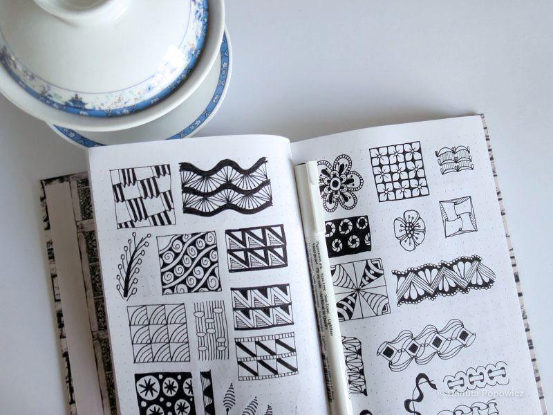 Notes w kropki przydatny dla rysujących Zentangle