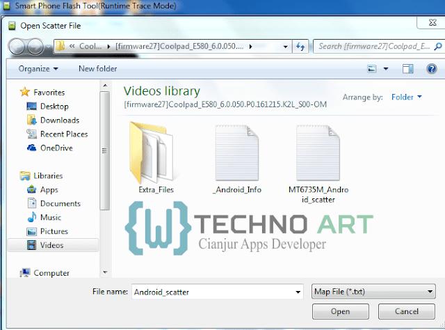 Lokasi Penyimpanan File Scatter