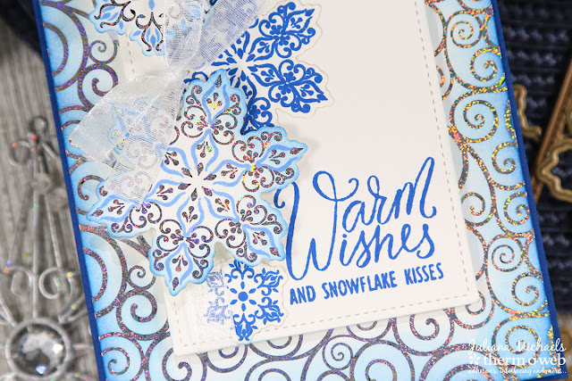 Warm Wishes Christmas Card by Juliana Michaels featuring Therm O Web and Gina K Designs Baby It's Cold Outside Stamp Set, Fancy Foils and Foil Mates