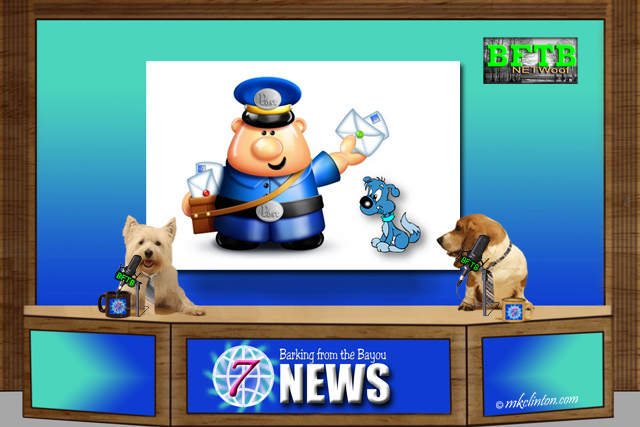 BFTB NETWoof News about mail carrier helping senior dog with a ramp.